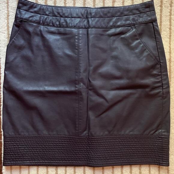 Anthropologie Dresses & Skirts - Anthropologie Vanessa Virginia Faux Leather Skirt